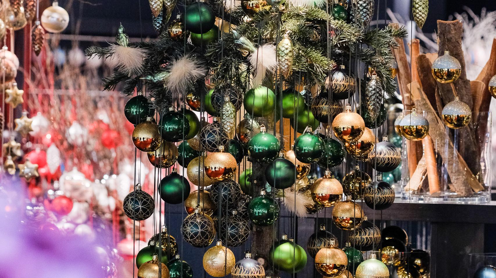 christmas decoration and christmas tree balls at christmasworld