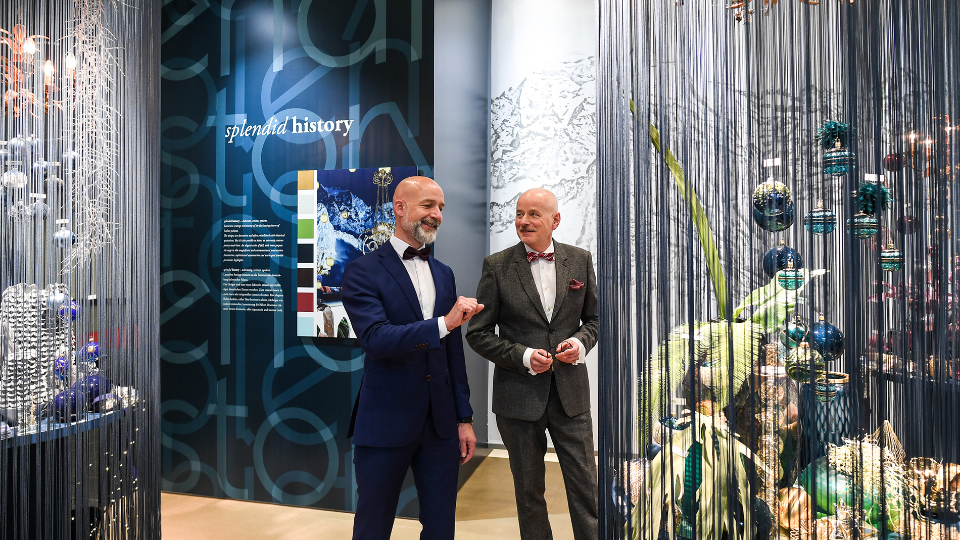 "Trend ""splendid history"" at Christmasworld Trend Show 2018: mystical opulence in elegant blue-green"