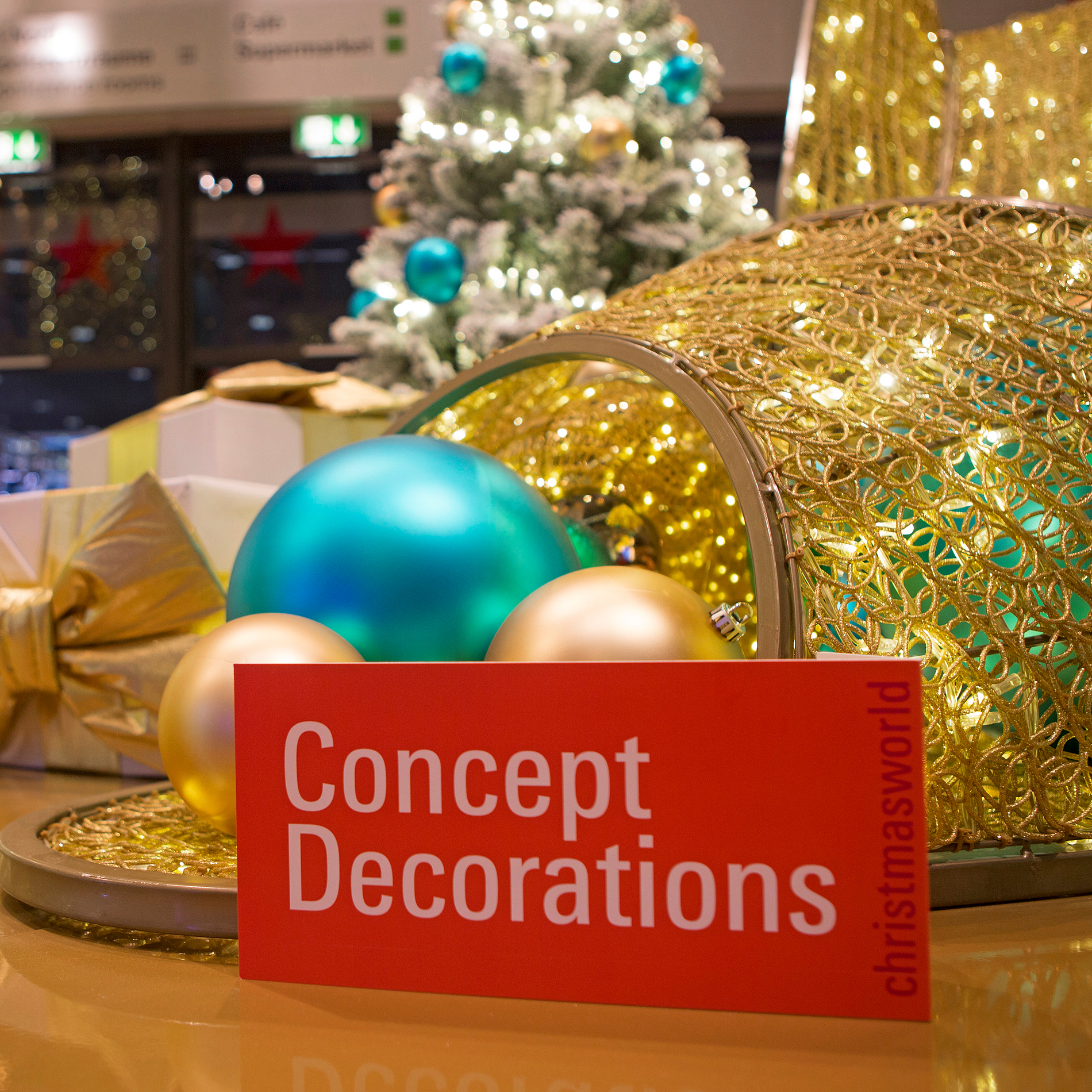 Concept Decoration logo at an exhibition stand at Christmasworld
