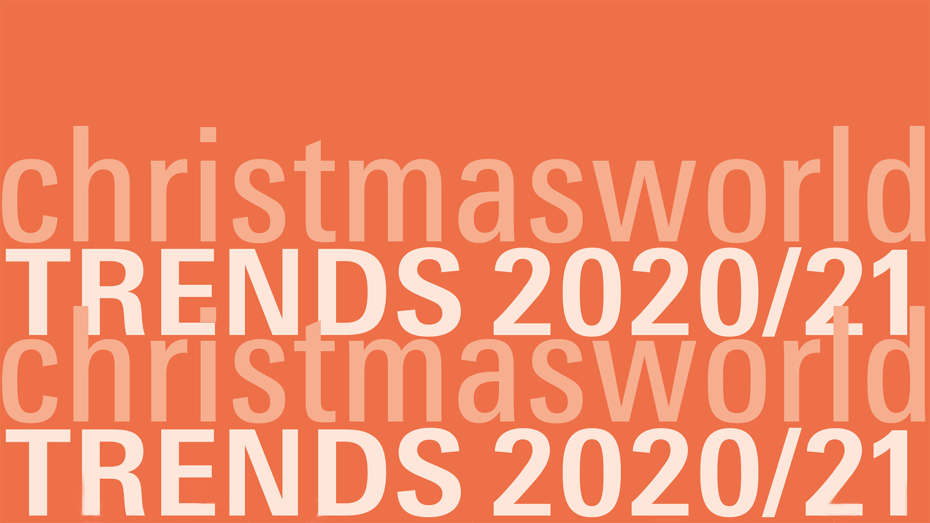 Christmasworld Trends 2020/21 Cover Trend brochure