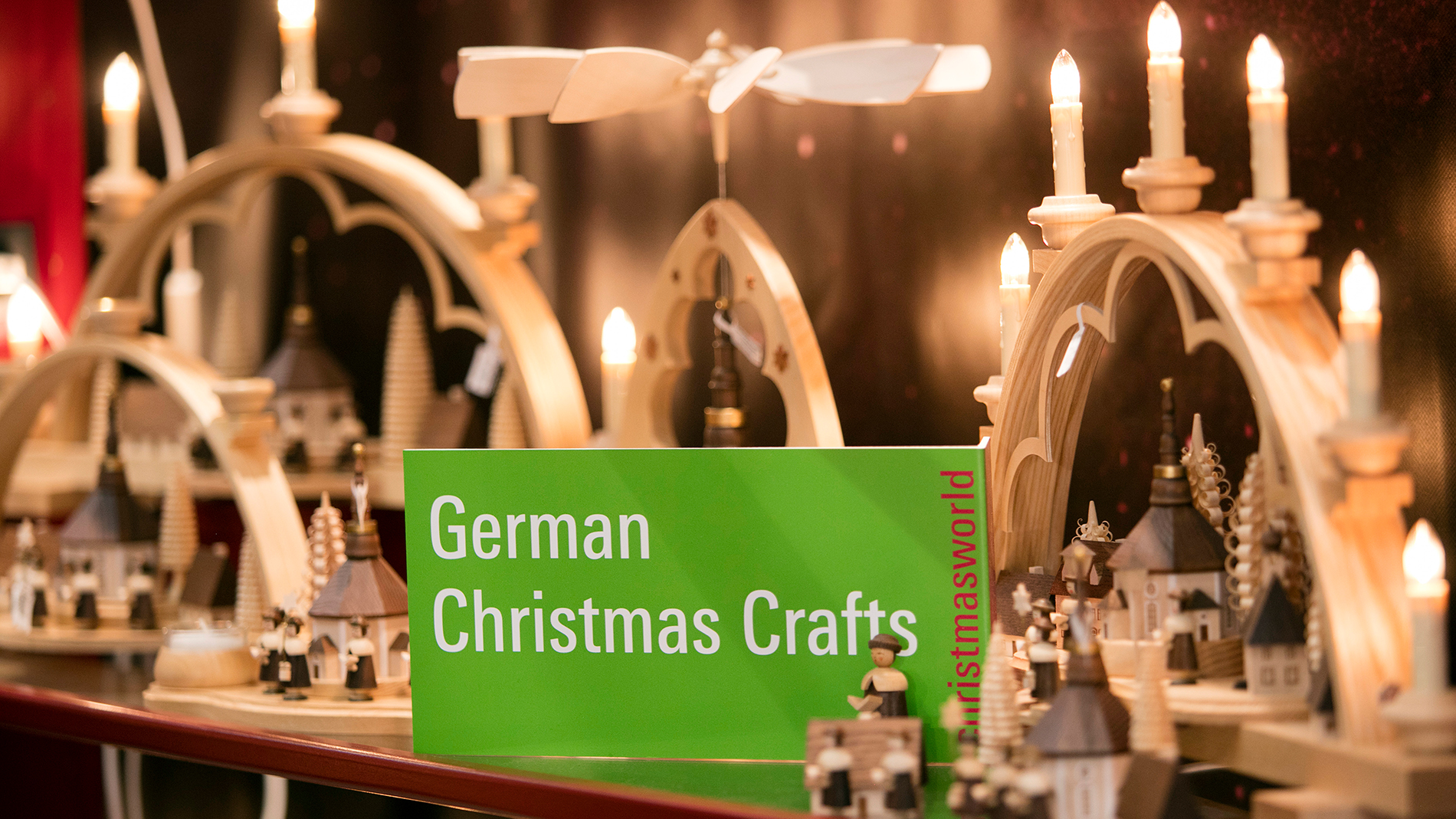German Christmas Crafts logo at an exhibition stand at Christmasworld