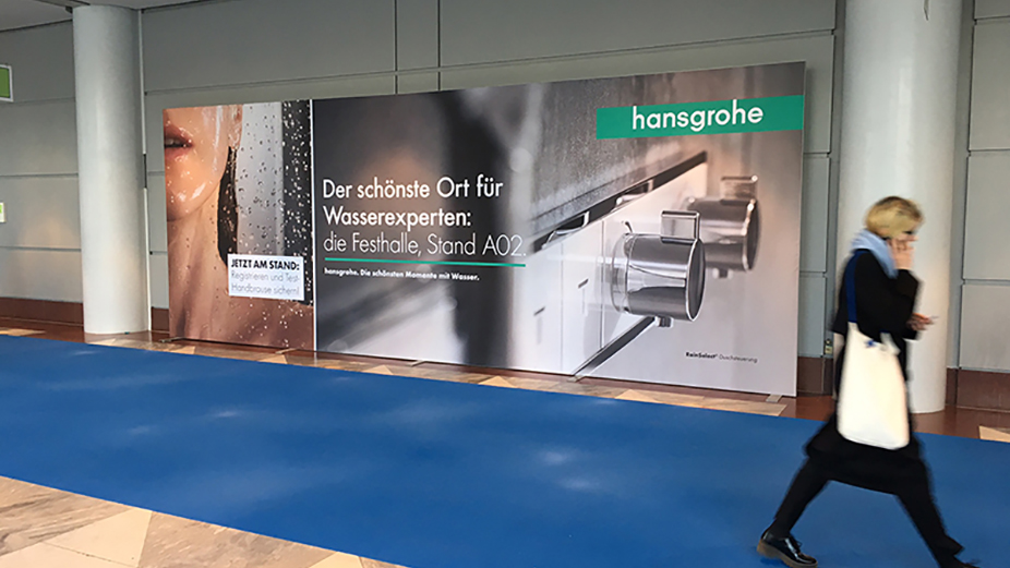 Advertising Wall on the fairground Messe Frankfurt