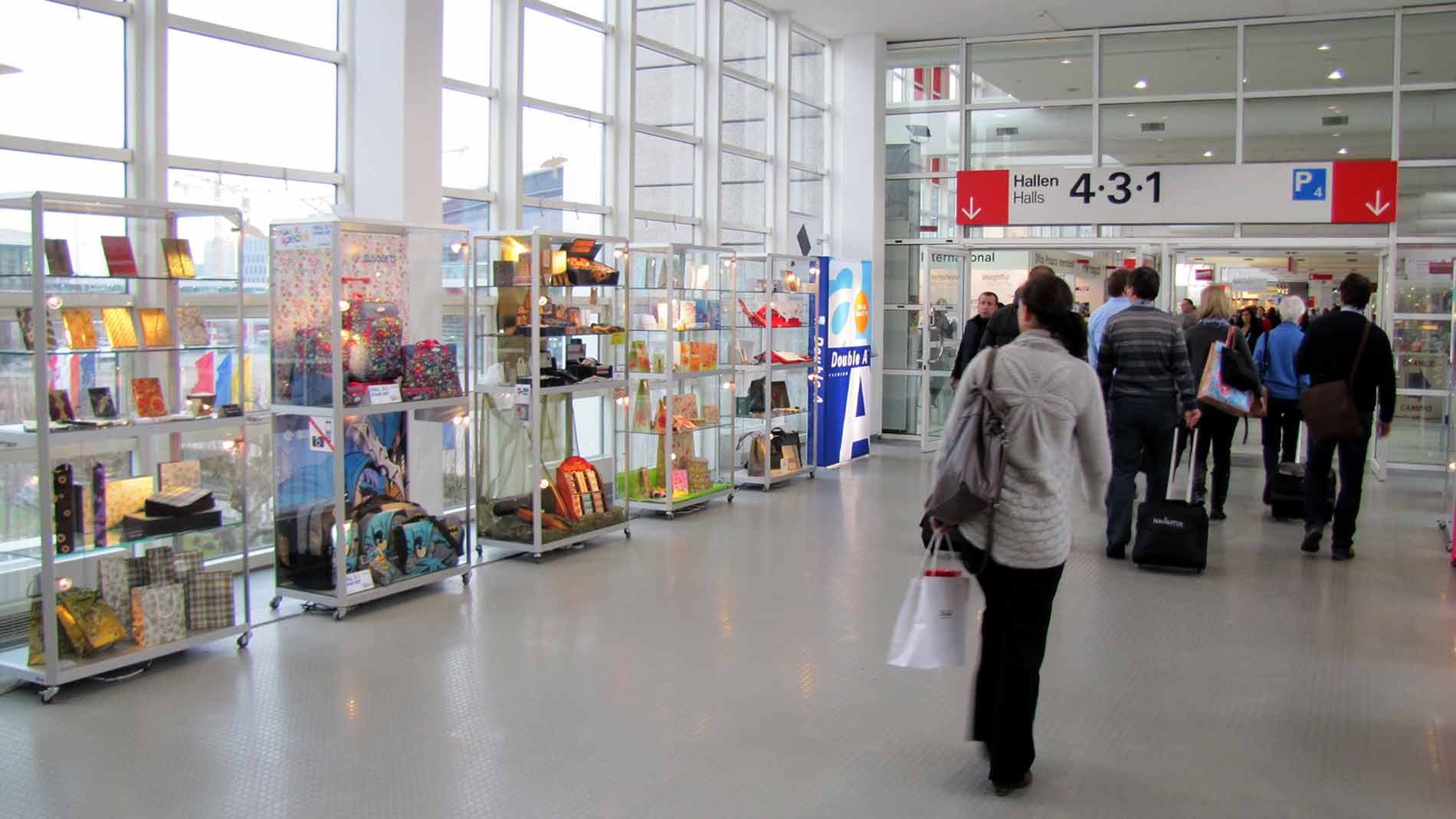 Display Cases at the Fairground Messe Frankfurt
