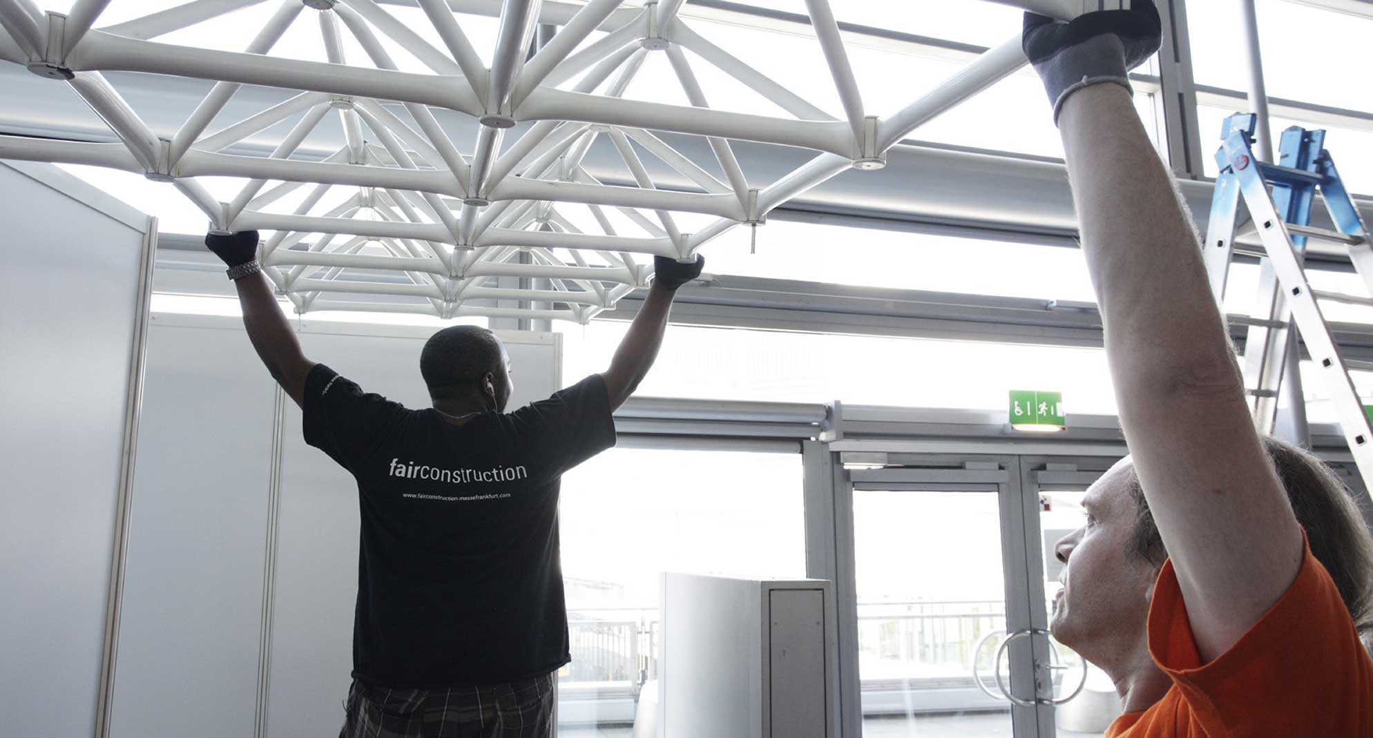 Set-up and dismantling assistants at the Messe Frankfurt