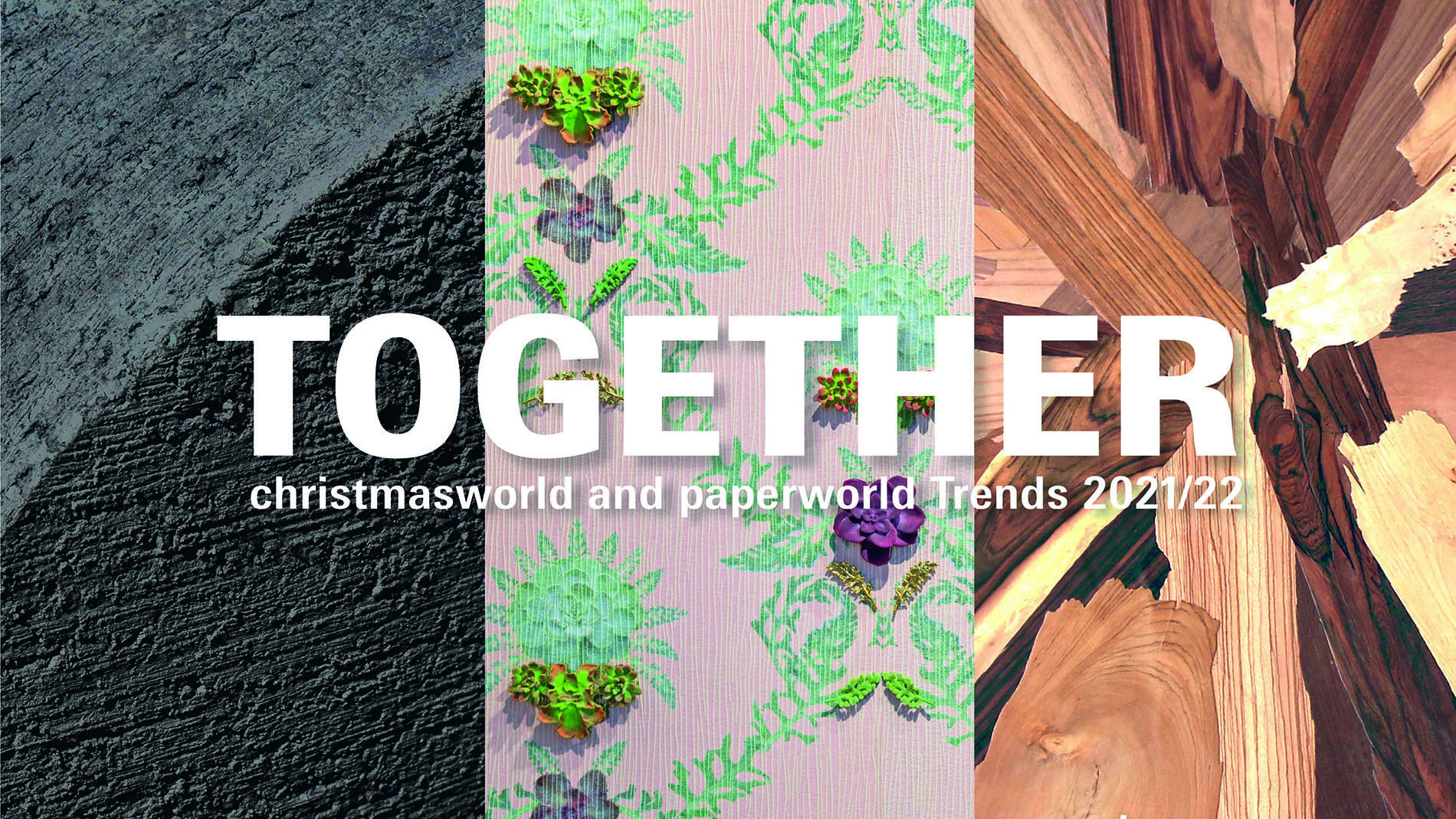 Trend brochure cover 2021 of the Christmasworld and Paperworld Trends